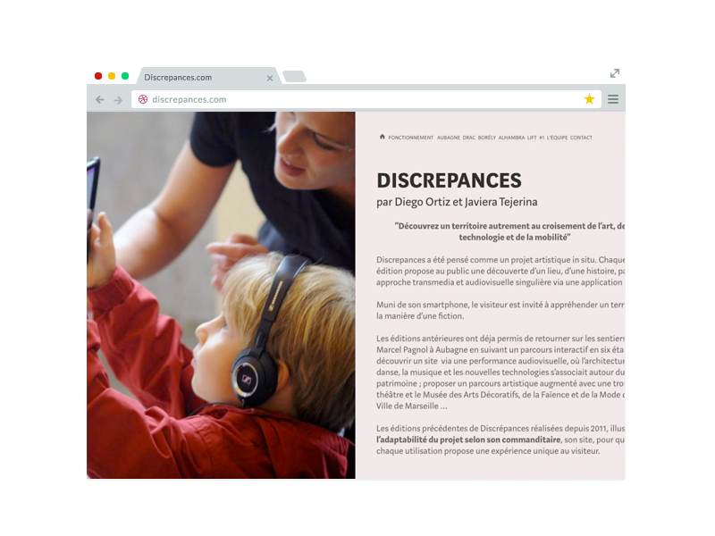 Site web discrepances